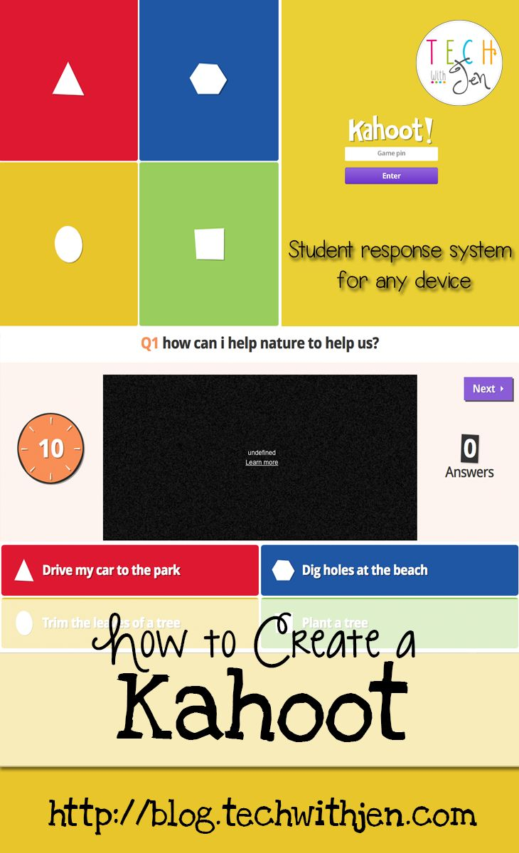 Bright idea for using Kahoot for interactive student responses.