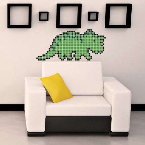 Styracosaurus-creative world of square stickers inspired by pixel.