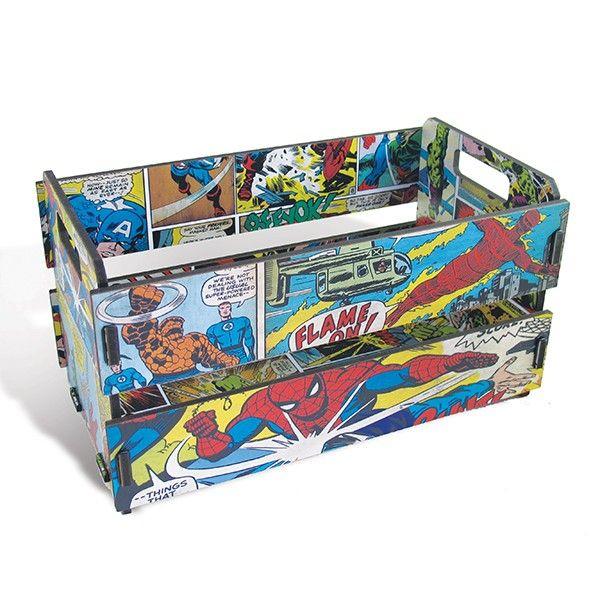 Caixote de Feira Mini Marvel Comics