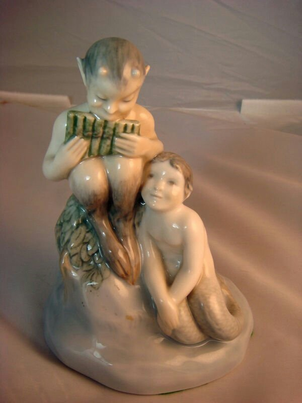 Royal Copenhagen Faun with Mermaid