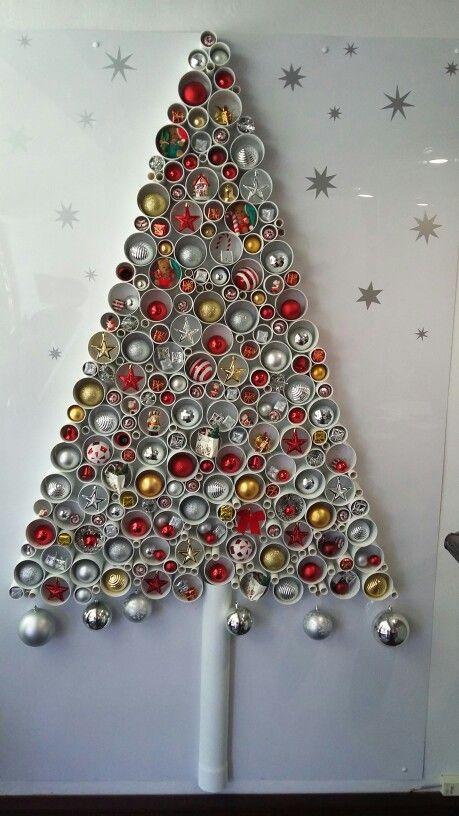 Pvc Pipe Christmas Tree 2015 Christmas Pinterest