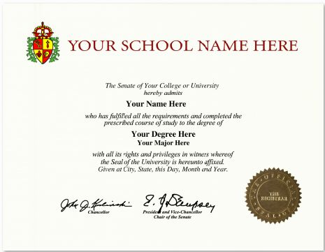 Best Custom High School Diploma  Fake International College