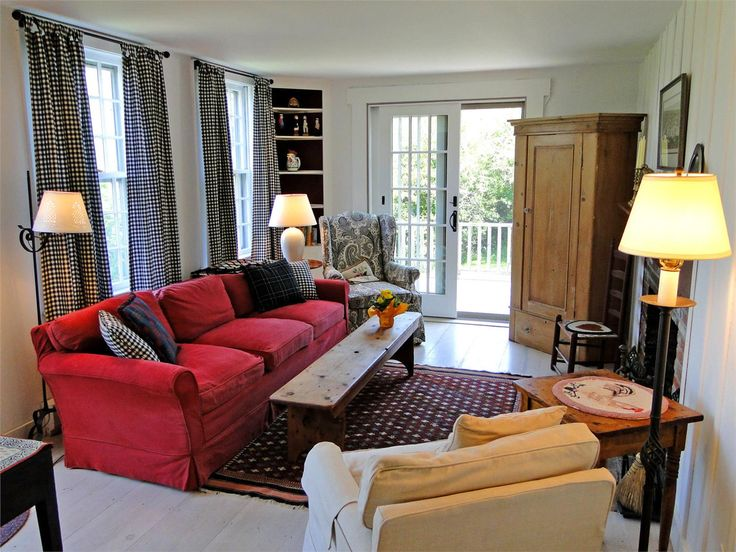 Enjoy Living Room With New Slider To Wrap Around Deck Nantucket Town,  Nantucket Vacation Rental