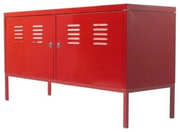 Ikea PS Cabinet, Red - modern - buffets and sideboards - IKEA