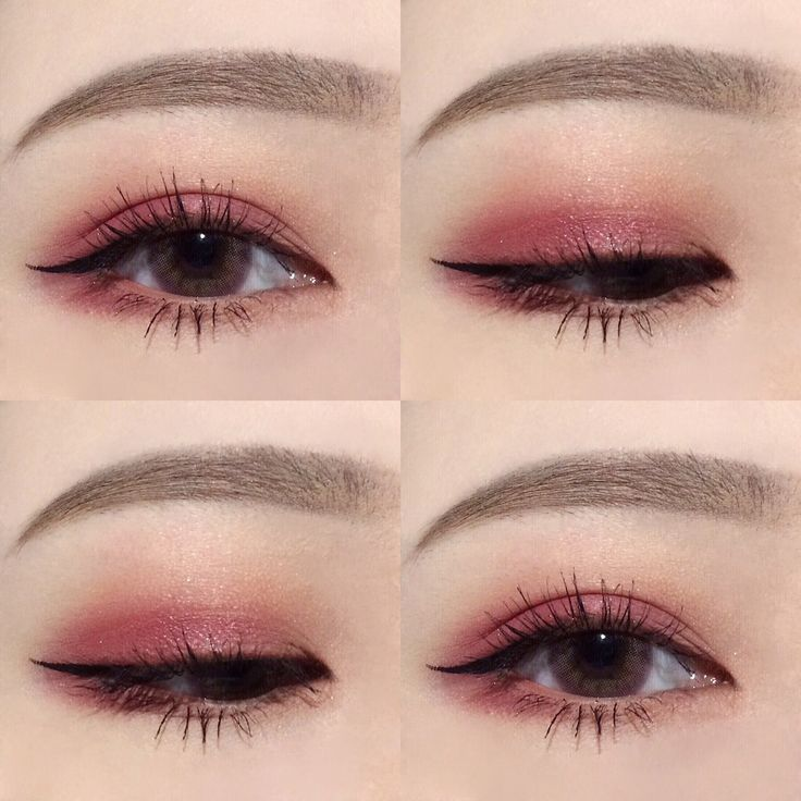 Korean makeup, pretty, cute, pink, perfect eyebrows