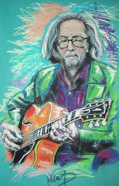Eric Clapton by Melanie D on artflakes.com as poster or art print $27.72