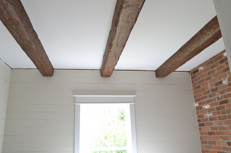 Faux wood beams from Beneath My Heart