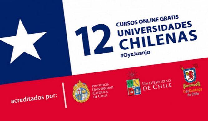 La Universidad de Chile, la Universidad de Santiago de Chile, y la PUC comparten una agenda surtida de cursos online gratis con posibilidad de certificación.
