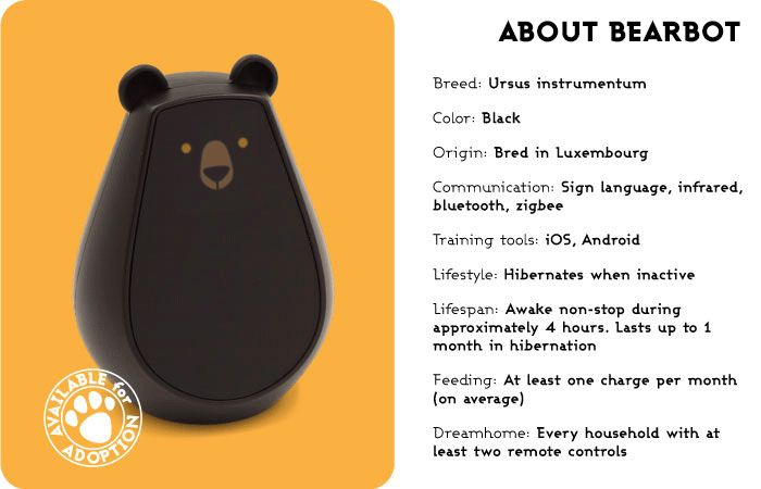 Home automation is easy with Bearbot, an emotive universal remote. Once tamed…