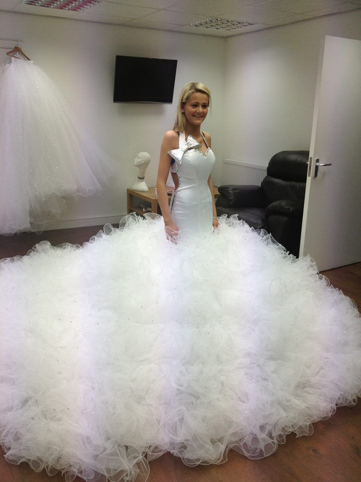 Wow you could get lost in this gown here comes the for A big wedding dress