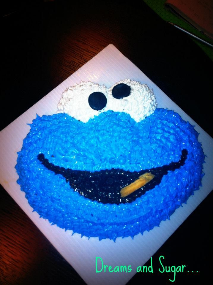 the coockie moster cake !
