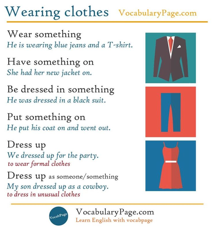 Clothes in english language