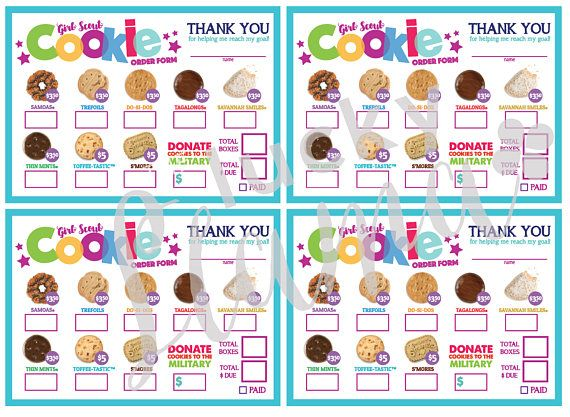 The 25+ best Order girl scout cookies ideas on Pinterest Girl - food order form