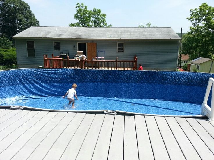 11 best images about pool liners on pinterest tile for Pool liner installation