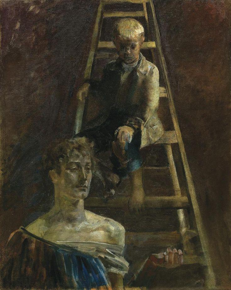 Jacek Malczewski - Little Painter and a Muse