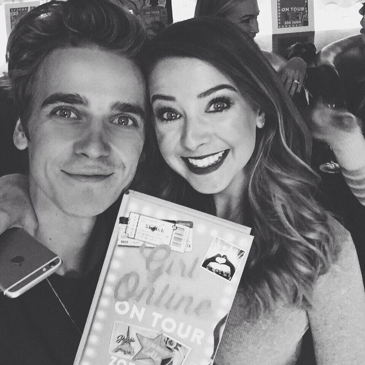 This is the cutest photo of them together! // Zoella & ThatcherJoe