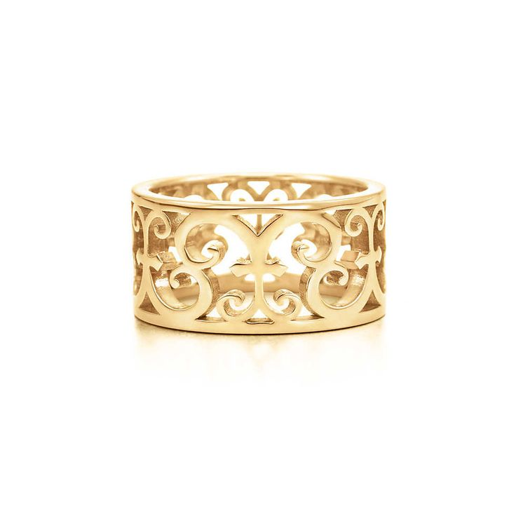 Tiffany Enchant™ wide ring in 18k gold.