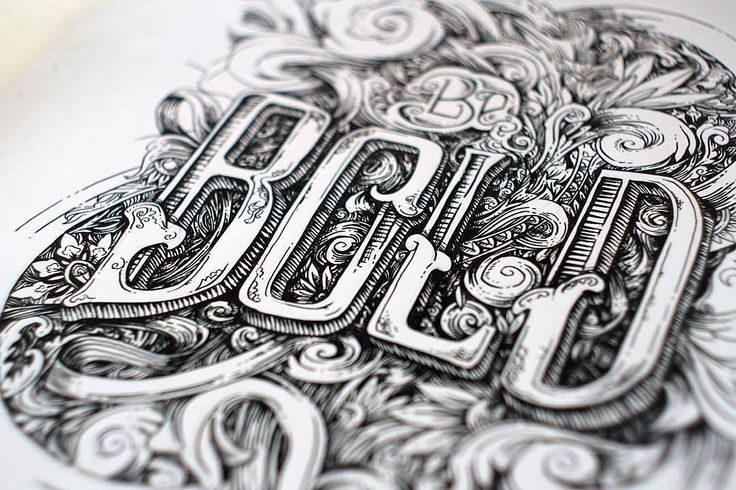 Such ornate detail in this work by @rafbanzuela - #typegang - free fonts at typegang.com | typegang.com #typegang #typography