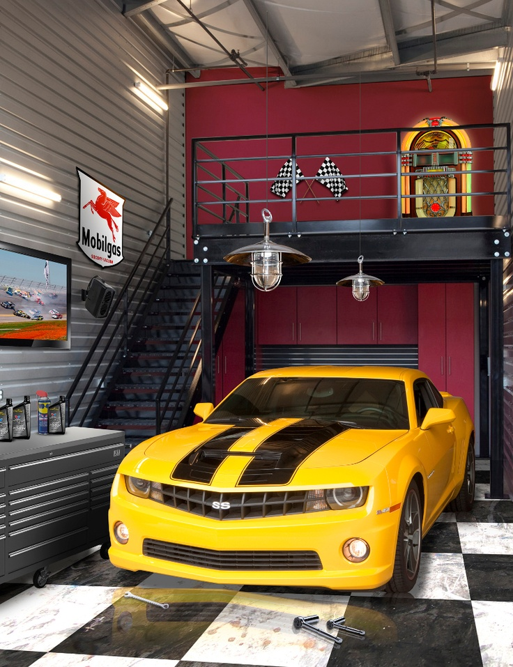 Hot rods classic sports cars trucks garage for Cool carports