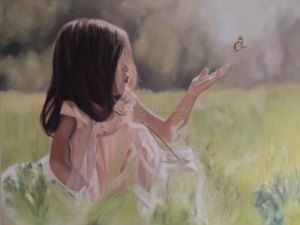 Mia Laing 2013 'Wonderfully Made' Oil on Canvas 2013 original photo by 'Ordinary Miracles and the Crazy 9' #art #oilpainting #childreninart #painting