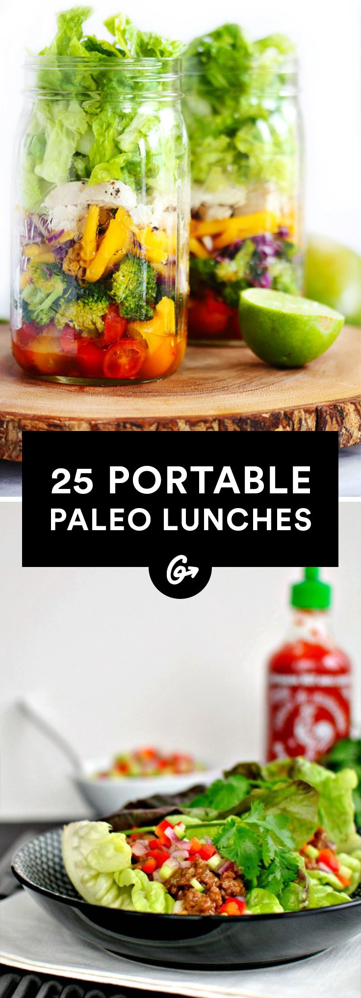 25 Paleo Lunches to Brown Bag to Work #paleo #lunch #recipes http://greatist.com/eat/paleo-lunch-recipes
