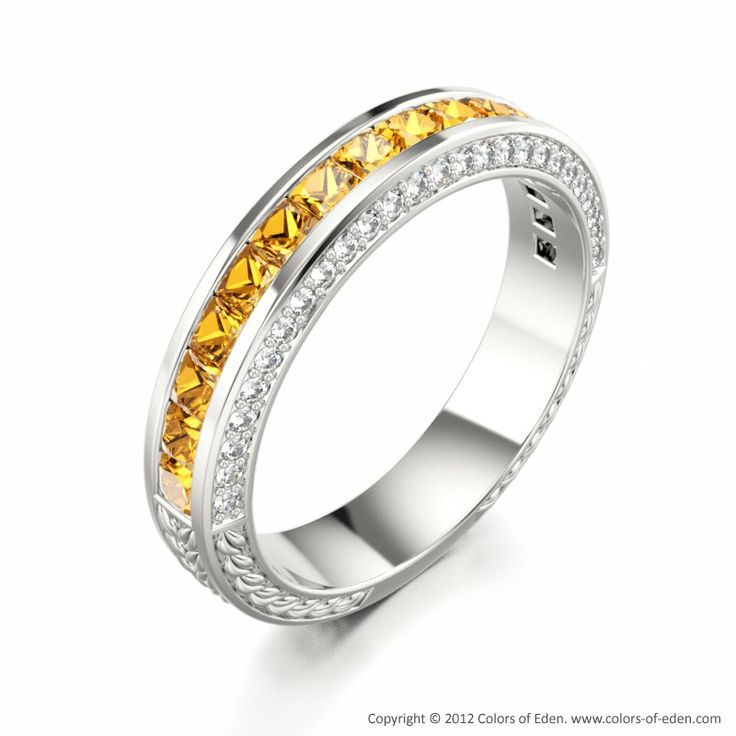 Unique Citrine Wedding Ring gold jewelry
