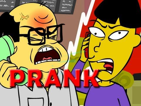 Angry Asian Restaurant Prank Call (ANIMATED) - Ownage Pranks (+playlist) FUNNIEST THING EVER!! The others are good too!