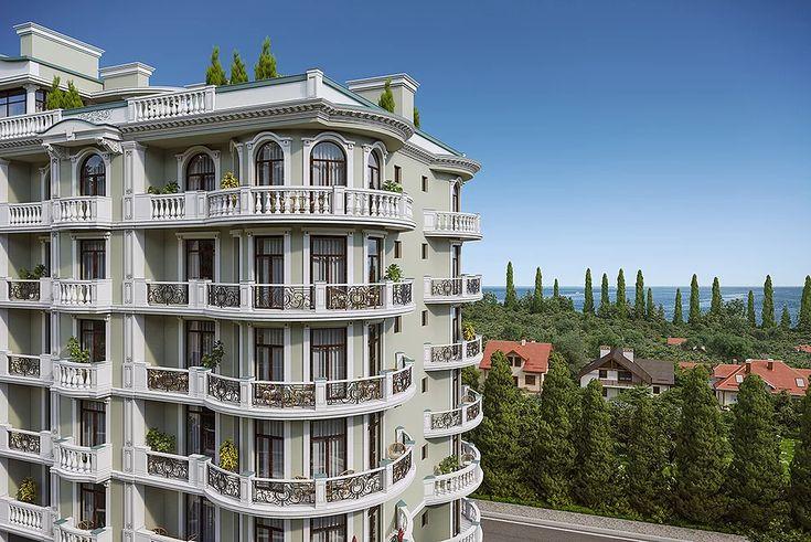 Реалистичный рендер, классического здания. Архитектурная визуализация. Заказать по низкой цене