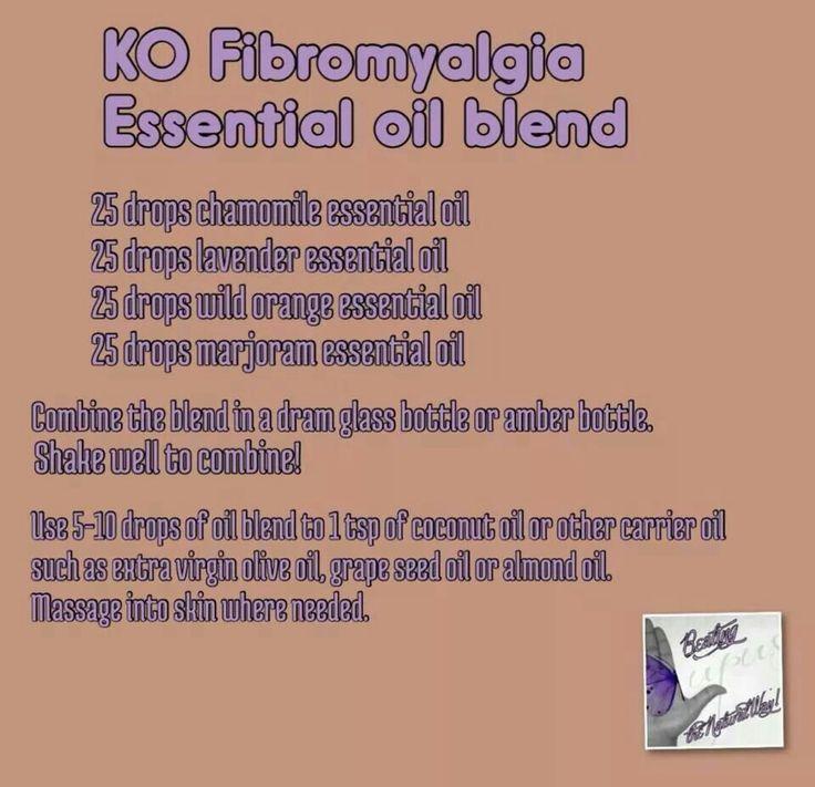 Fibromyalgia essential oil blend