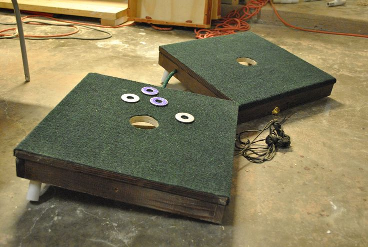 One hole angled washer board game Washer boards Pinterest