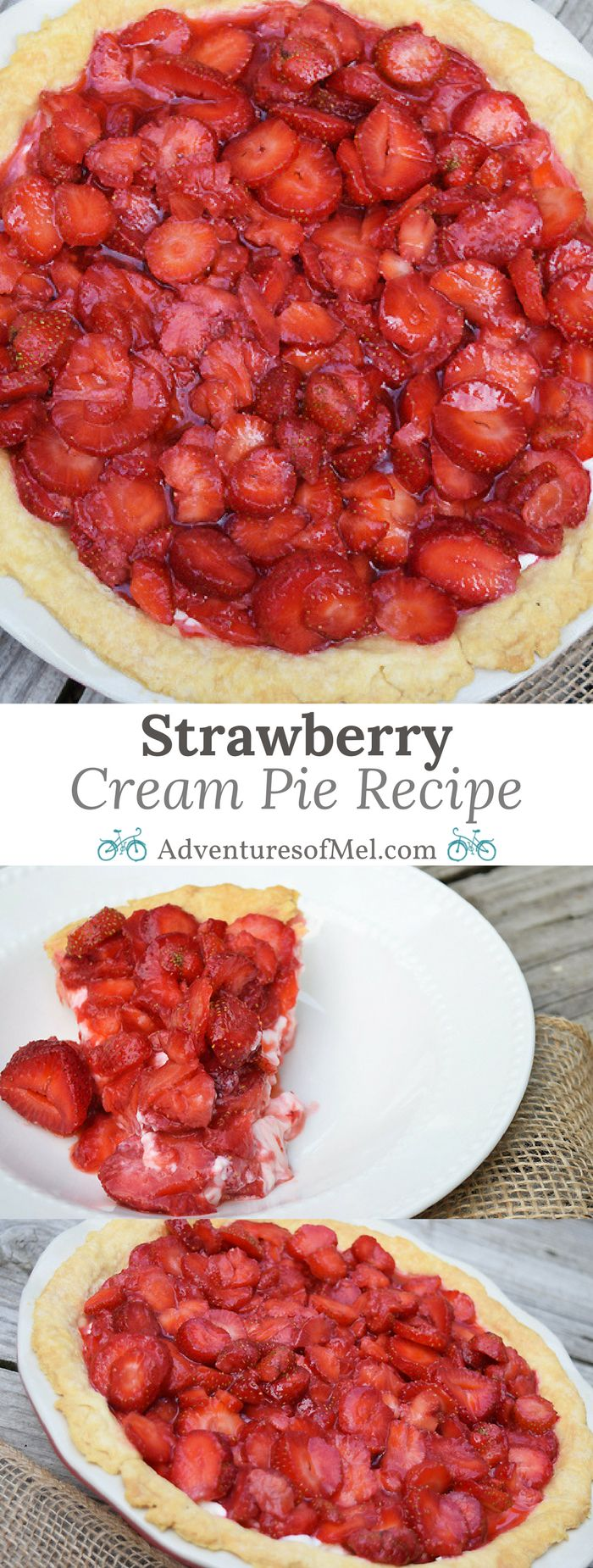 Can't get enough strawberry recipes? Make the most of berry season with a delicious Strawberry Cream Pie. Strawberries and cream cheese make a delicious combo!