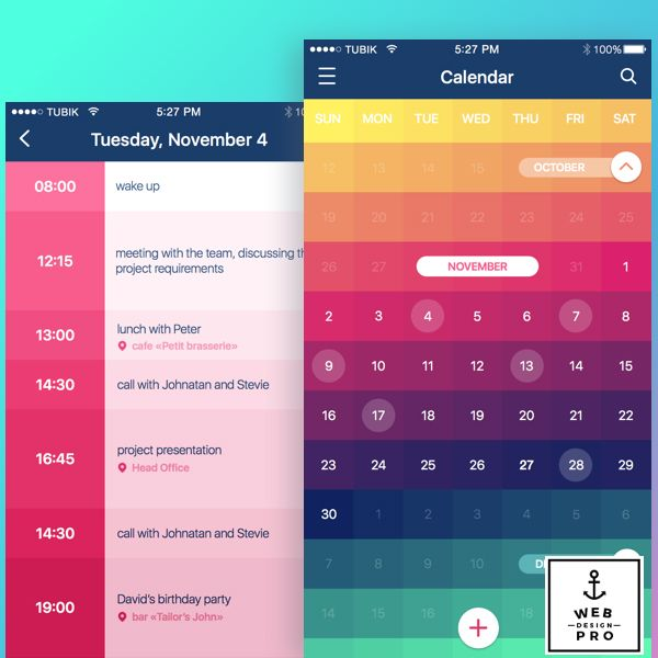 Calendar App. #WebDesignPro #app #mobile #apps #photooftheday #beautiful #cute #instalike #style #calendar #2016 #2017 #date