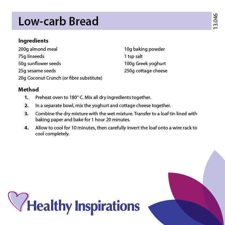 Low-carb Bread #healthyinspirations #healthyrecipes