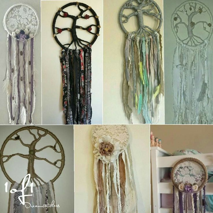 Dreamcatchers  Www.facebook.com/1of1dreamcatchers  #dreamcatchers #treeoflife #lace #flowers #feathers #handmade #homedecor