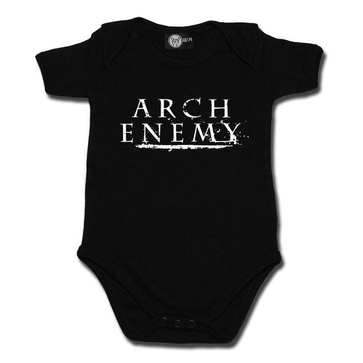 Arch Enemy Logo Baby Black Bodysuit