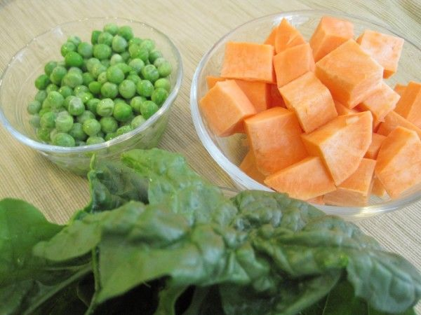 Baby Food Recipe: Sweet Potato, Spinach, and Peas