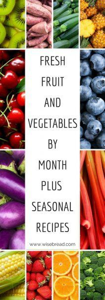Fresh Fruits and Vegetables, By the Month | Seasonal Recipes | How To Save Money On Fruit and Veg | Frugal Living Tips | Food Shopping For Less | Healthy Eating Tips | Meal Planning Ideas | #frugalliving #mealplanning #healthyeating #savemoney #frugal #liveforless #fruitandveg #recipeideas