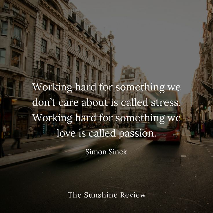 You deserve more than stress and money. You deserve passion!