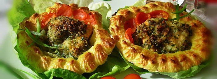 Capesante gratinate con patate duchessa