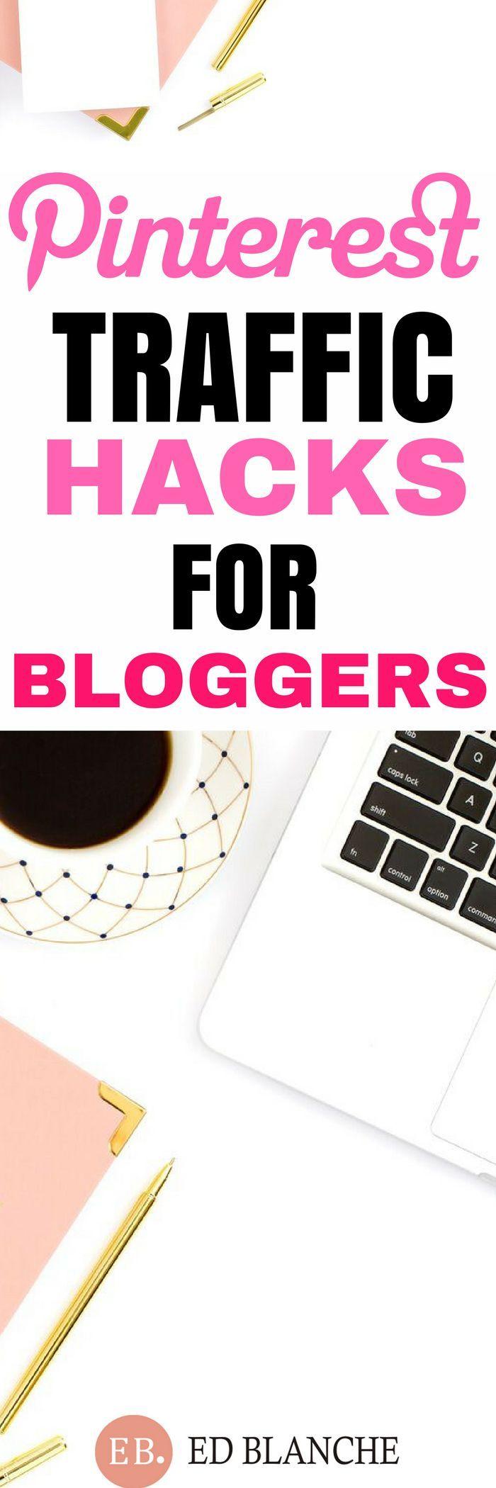 Pinterest traffic hacks for bloggers #pinteresttips