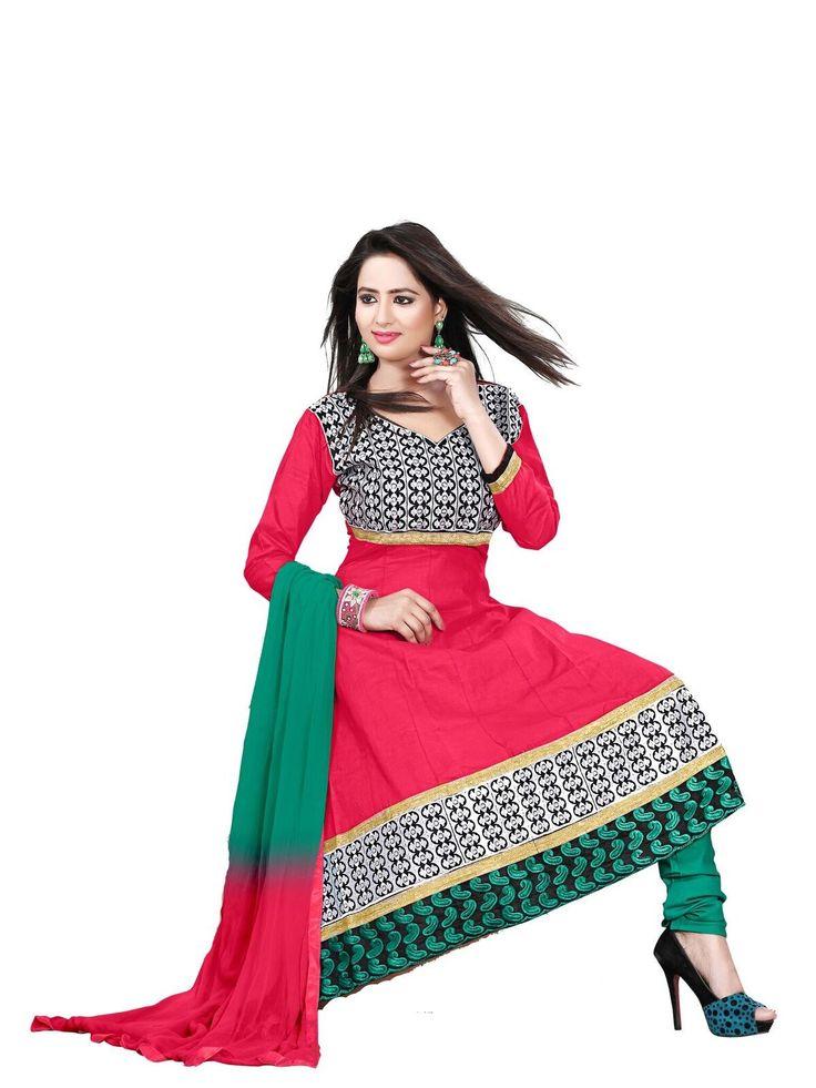 buy saree online Gajari Colour Cotton Designer Party Wear Dress Material Buy Saree online - Buy Sarees online