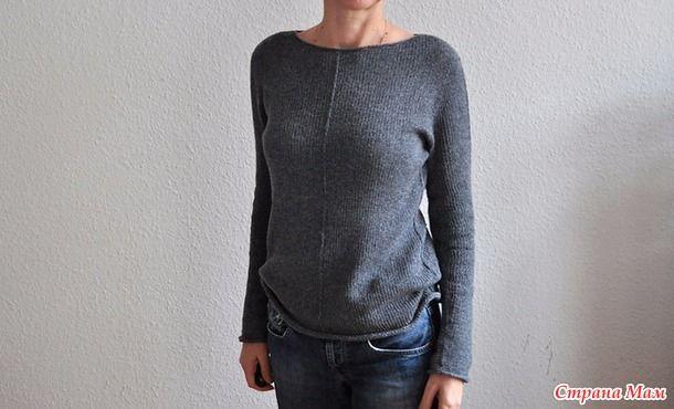 Простой пуловер спицами Friday Again by Ankestrick