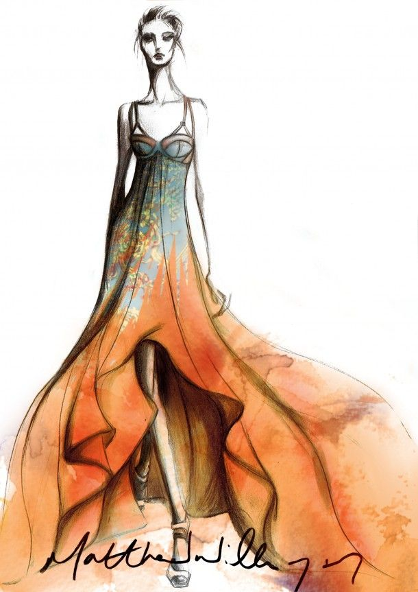 Matthew Williamson #fashion #moda #ilustracion #sketch #boceto