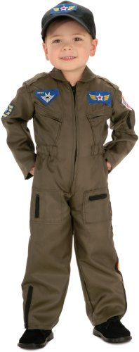 Child's Toddler Top Gun Pilot Costume (Sz: 2-4T), Item Sizing: The size guide found below is specific to the costume in this listing. Other costumes may have different sizing patterns. For example, company A's size medium may be equivalent to company..., #Apparel, #Costumes & Accessories, $28.44