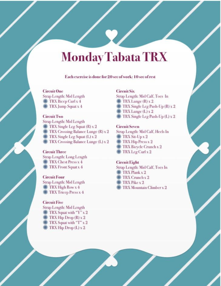 Monday Tabata TRX