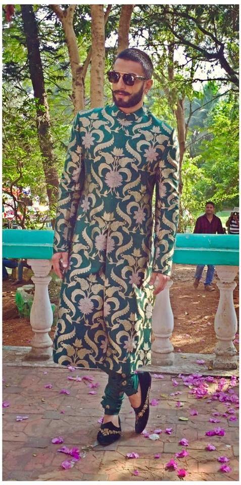 Ranveer Singh in Sabyasachi Heritage Menswear 2015.  The Banarasi Collection. Revive Banaras. For the promotions of Bajirao Mastani.
