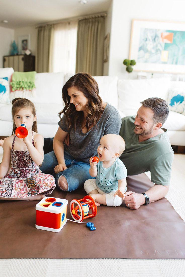 Tiffani Thiessen and family.