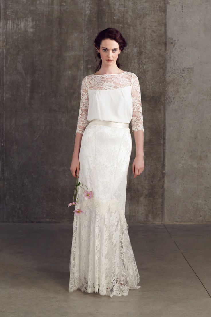 The Latest Fashion Of Two Piece Wedding Dress Fall 2019
