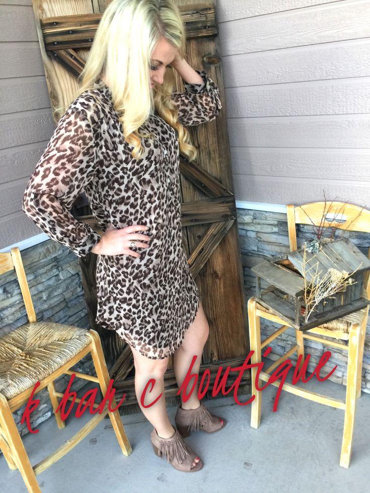 Chiffon Cheetah Dress