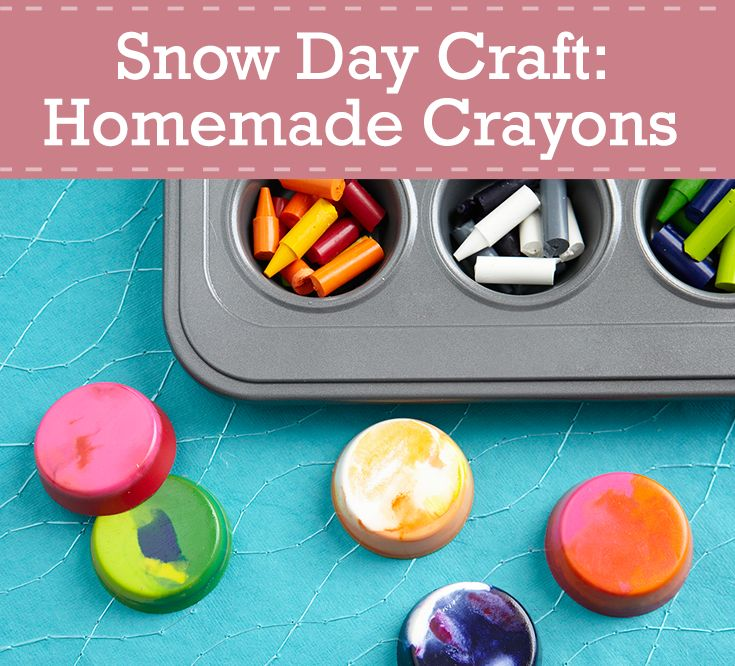New Craft Ideas For Kids Part - 43: Give New Life To Old Broken Crayons And Make Your Next Snow Day One To  Remember With Our Homemade Crayon Instructions. For More Simple Craft Ideas,  ...